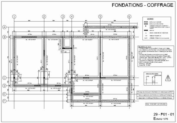 Etude Beton Arme Sol Fondation