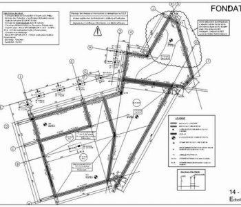 Exemples de plans de fondation